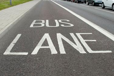 Photo of bus lane, High West Street outside Civic Centre