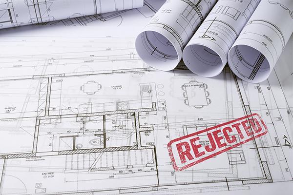 Plans plus refused sign