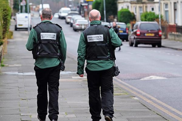 Two EE Officers on Coatsworth Road
