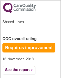 CQC rating - Shared Lives