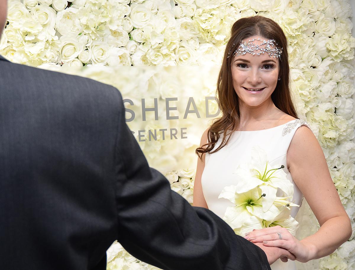 Gateshead wedding flower wall 03