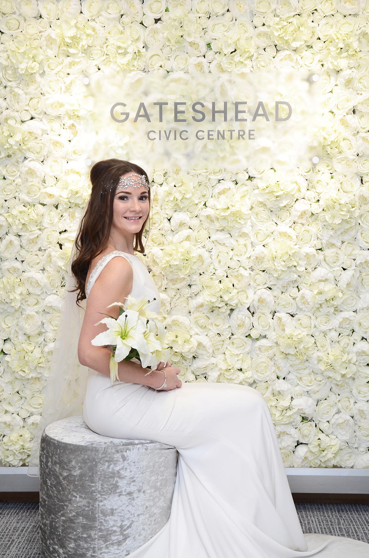 Gateshead wedding flower wall 04