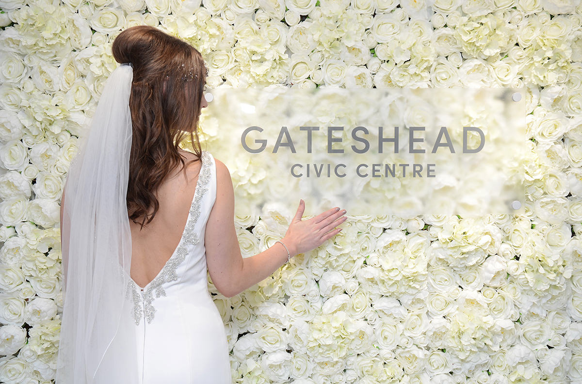 Gateshead wedding flower wall 05