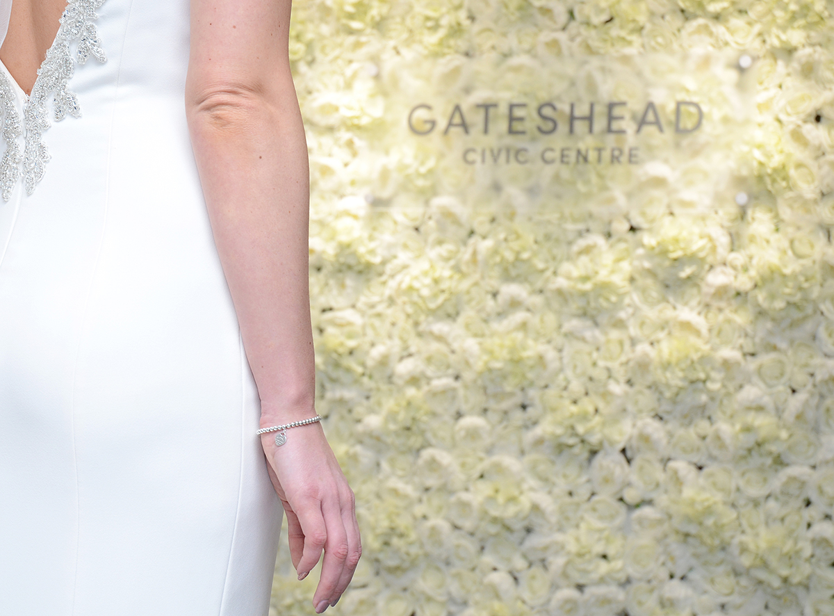 Gateshead wedding flower wall 06