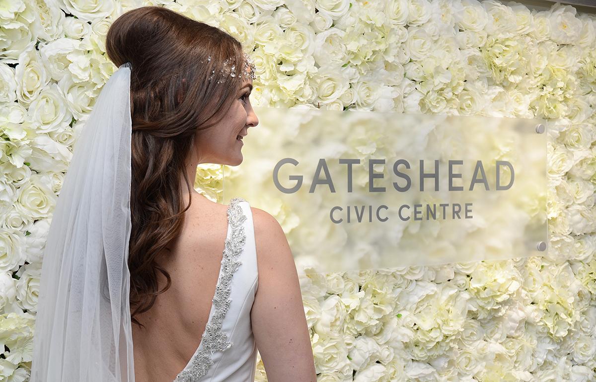 Gateshead wedding flower wall 07