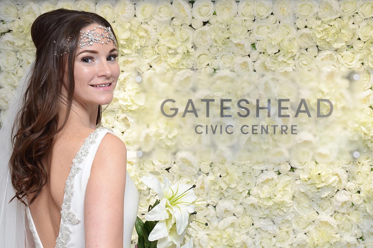 Gateshead wedding flower wall 08