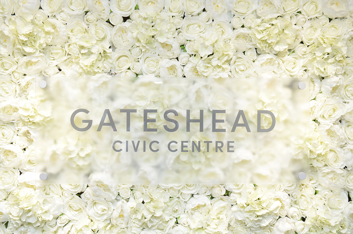 Gateshead wedding flower wall 09