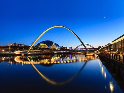 Gateshead Millennium Bridge tile