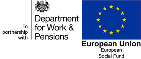 ESF and DWP logos - landscape