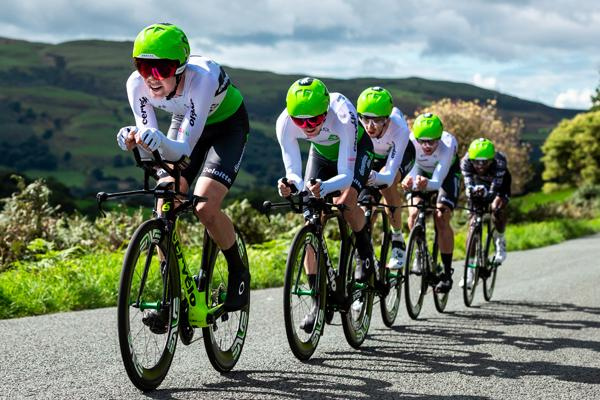 Team of cyclists