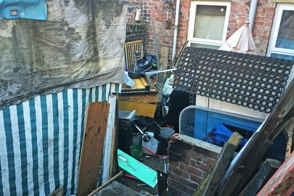 Pic of Mr Gray's backyard area