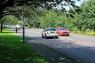 Main road through Ryton, summer