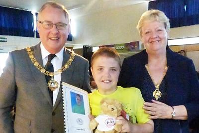 Mayor and Mayoress with Gibside leaver