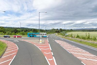 Google image of existing junction