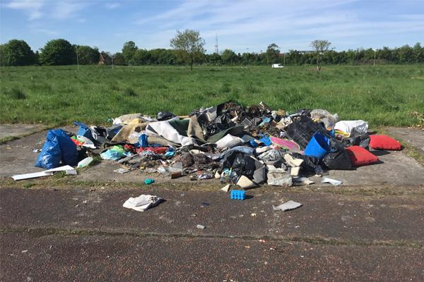 Lee Lamb fly tip, Beacon Lough