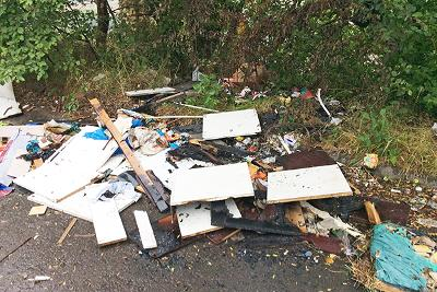Rubbish dumped using Baldwin's van
