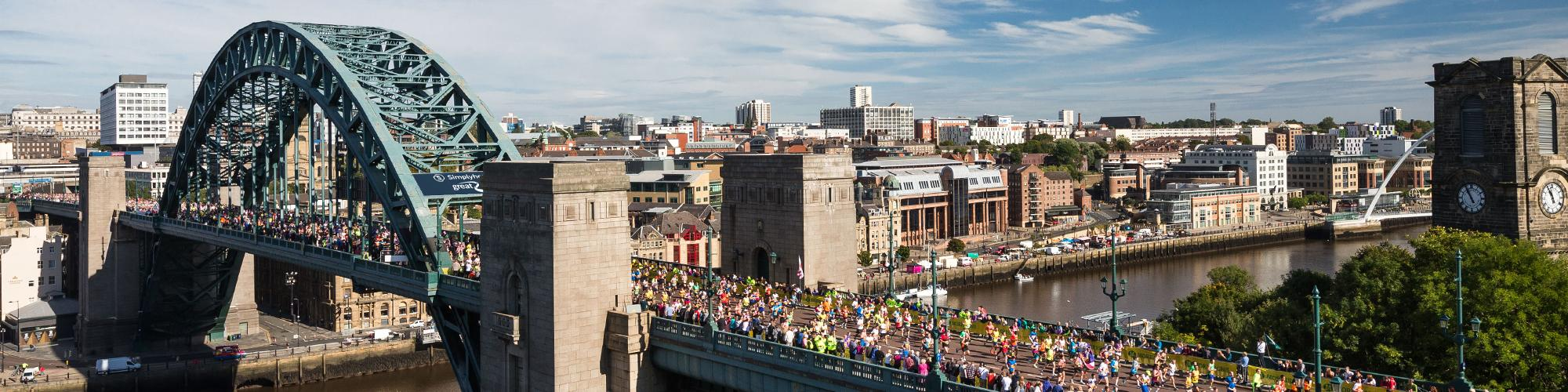 Great North Run over the Tyne bridge