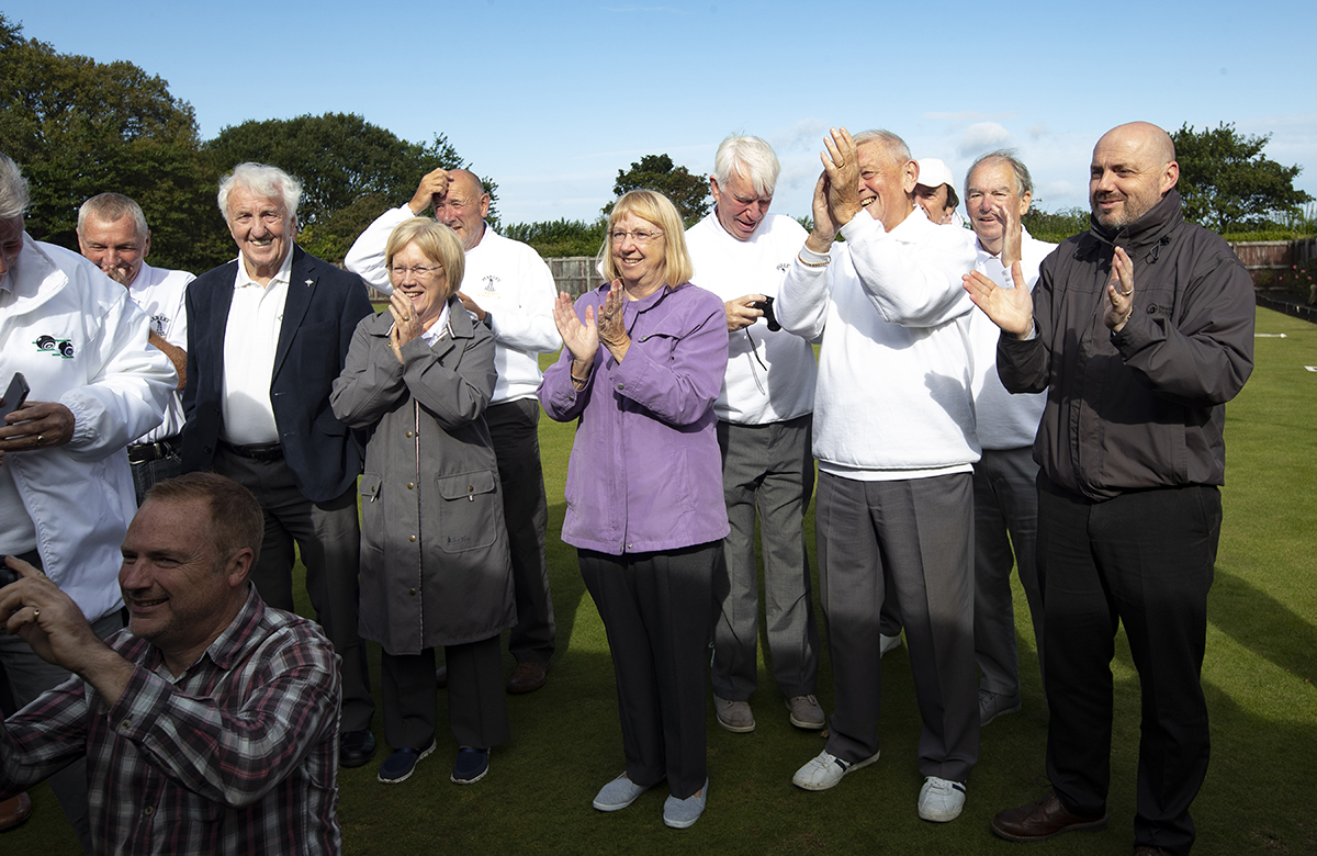 Guests celebrate the club's new-found independence