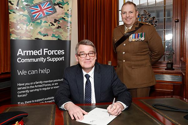 signing of the Armed Forces Covenant Mayors Parlour