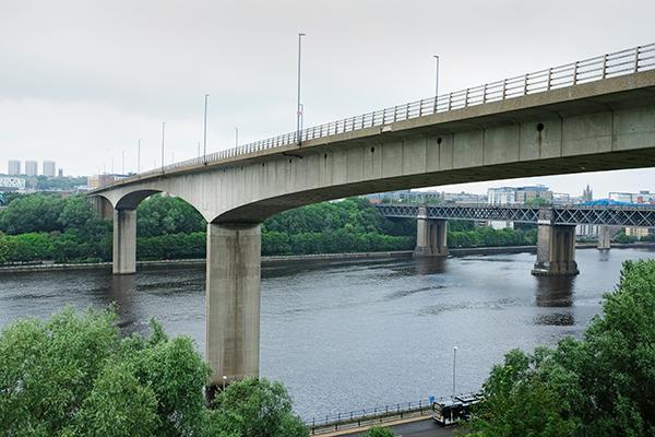 Shot of bridge from below