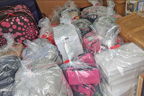 bundles of fake goods