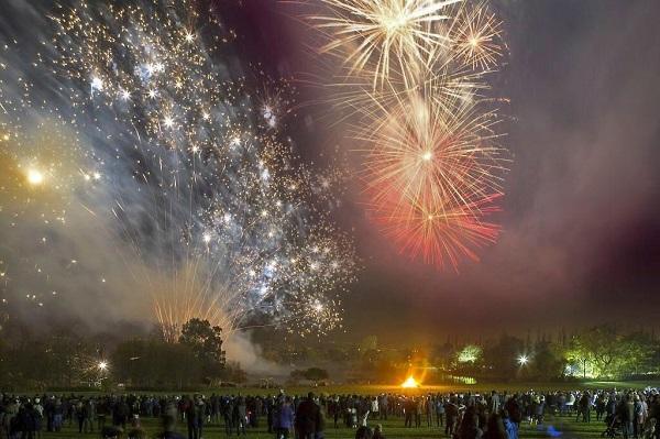 fireworks at Saltwell Park