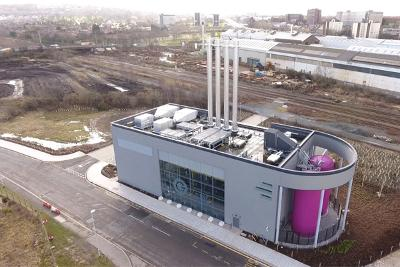 District energy centre aerial view