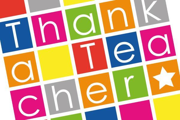 Thank a Teacher Day graphic