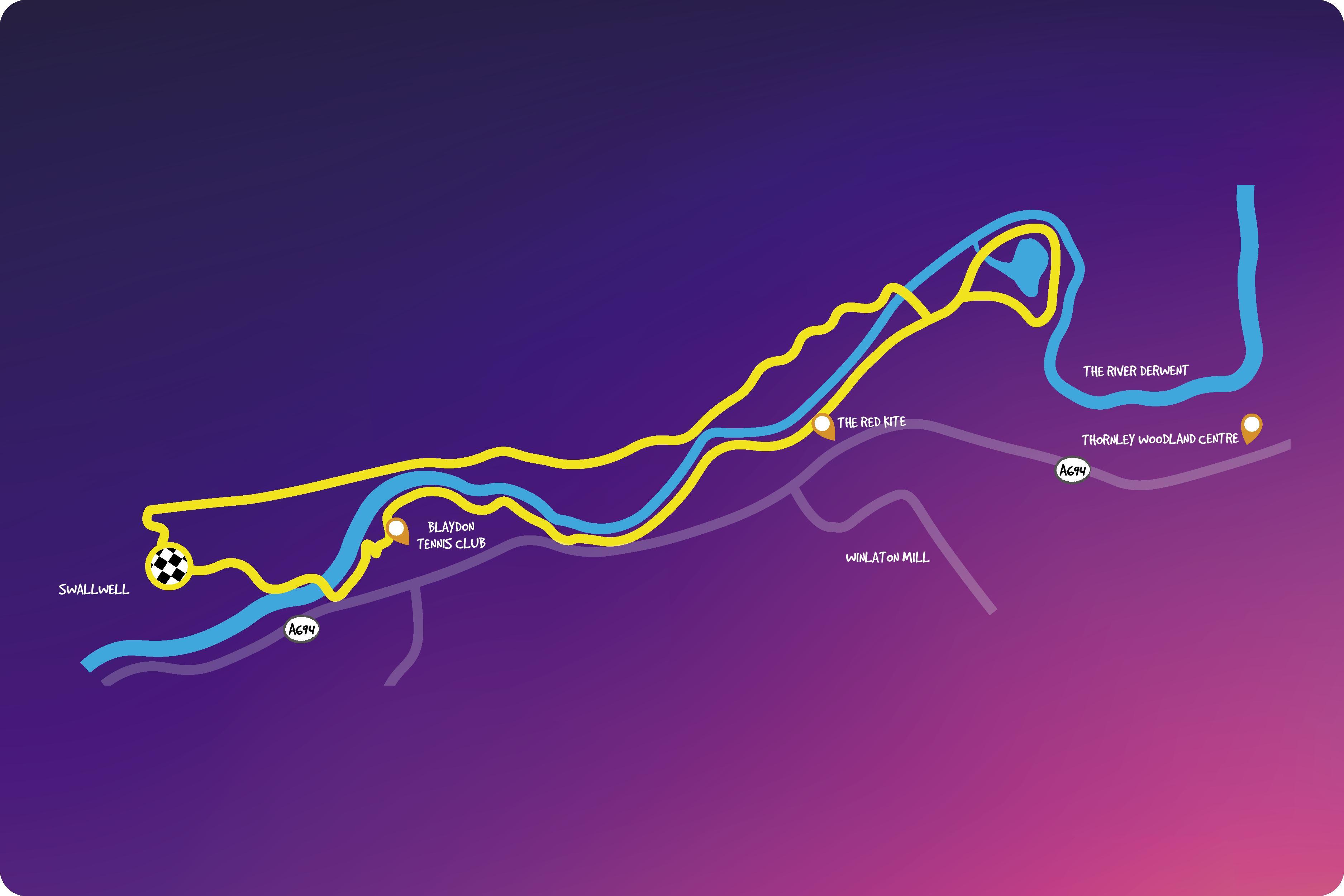 Derwent route map