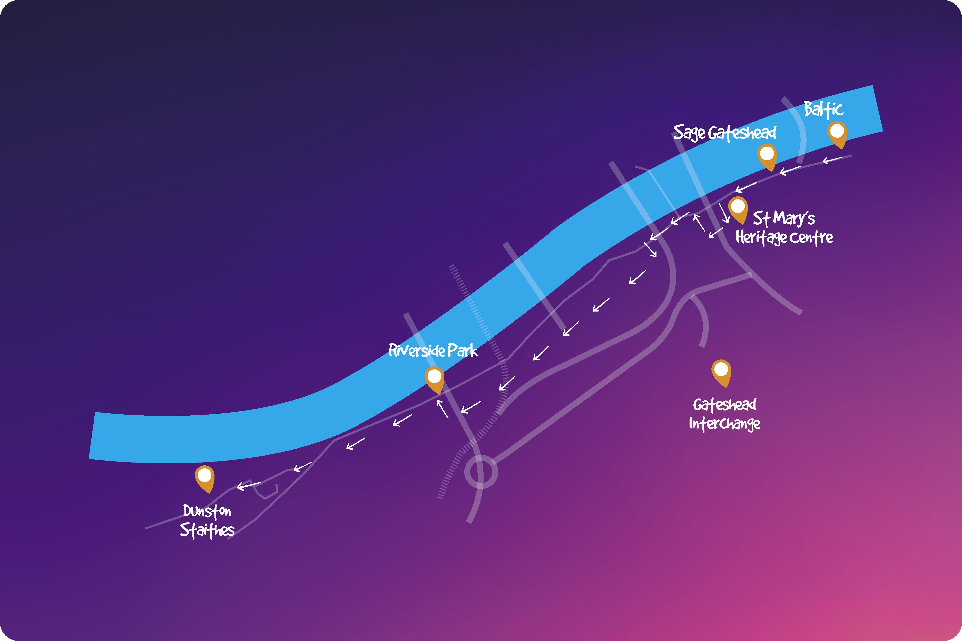 Quayside route map