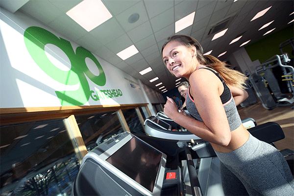 gym - lady on treadmill