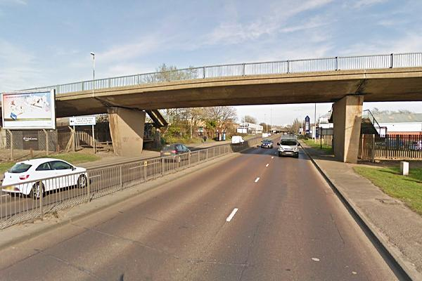 bridge over A695 at Blaydon