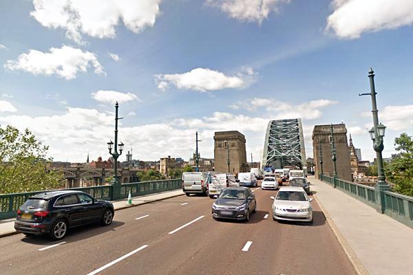 traffic on Tyne Bridge