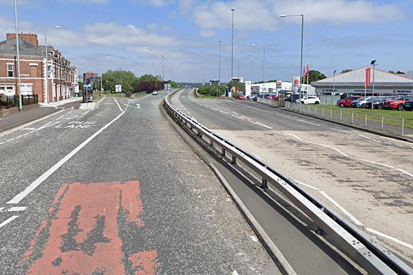 south end of Gateshead flyover