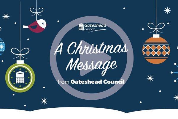 Christmas message video thumbnail