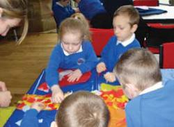 Kids learning at St Mary's