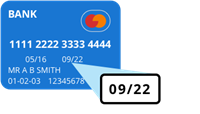 Credit card expiry date example