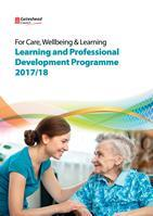 Care, Wellbeing and Learning programme front cover