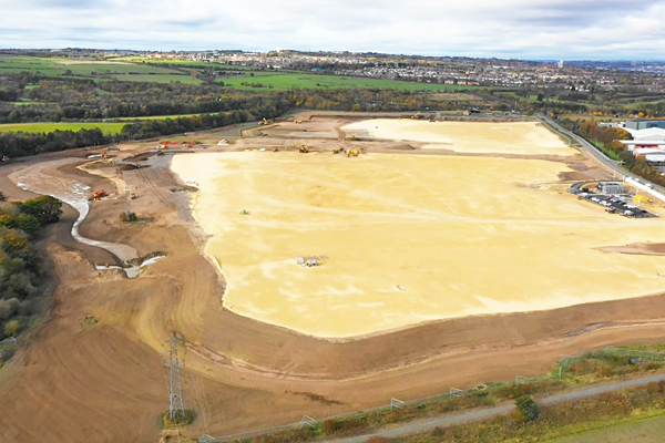 drone photo of site