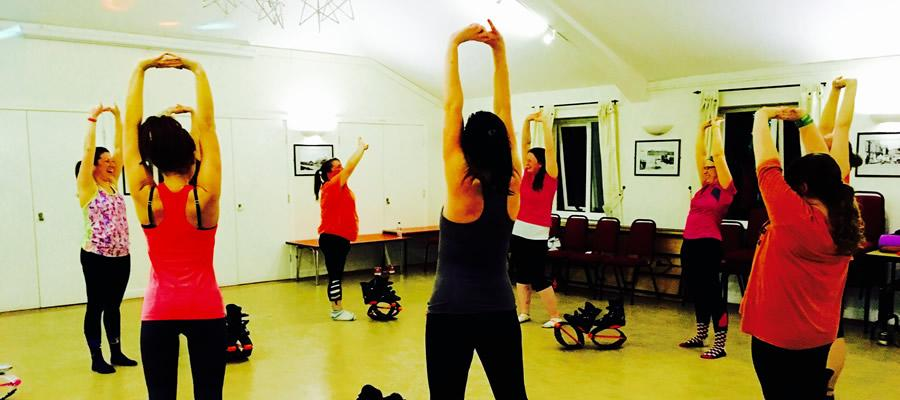 Exercise class at the Mill