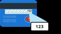 Credit card CVV number example