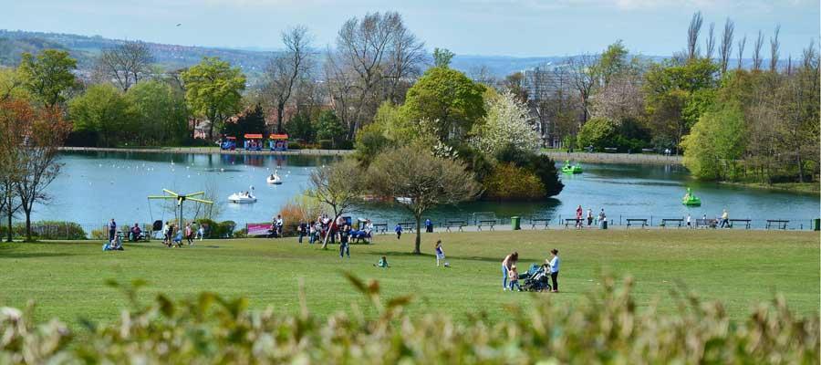 Saltwell Park lake